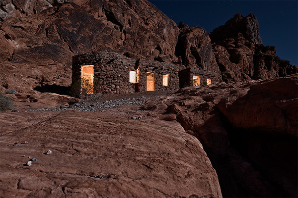 The Cabins at night, Valley of Fire, Nevada.