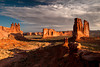 The Organ and Courthouse Towers, Arches National Park