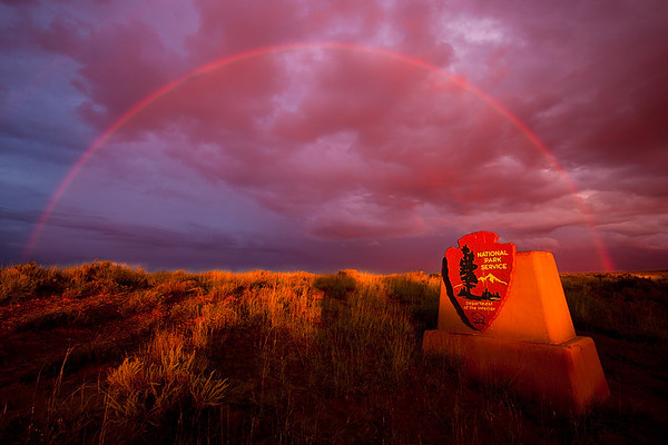 Rainbow, Petrified Forest National Park, Arizona