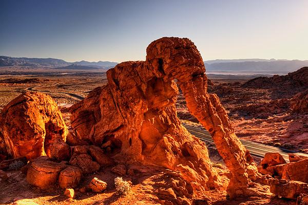 Elephant Rock, Valley of Fire, Nevada.