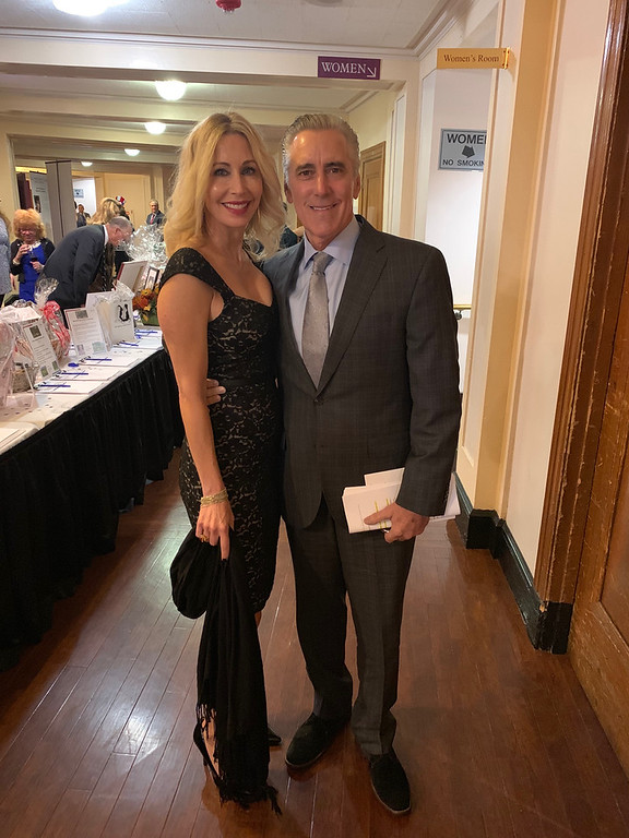. Master of Ceremonies Billy Costa of Boston and Michele Steele of Medford