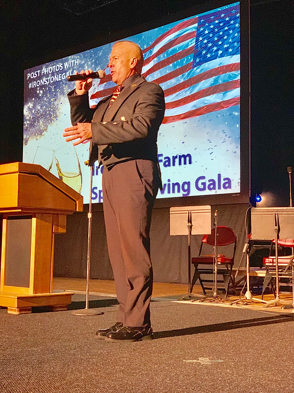 . Dan Clark, �The Singing Trooper,� performs �The Star-Spangled Banner.�