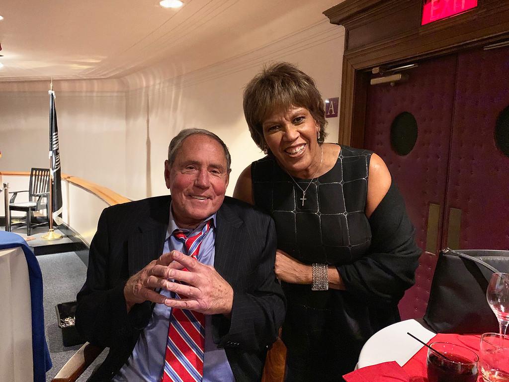 . Bob Lobel and honoree the Rev. Liz Walker