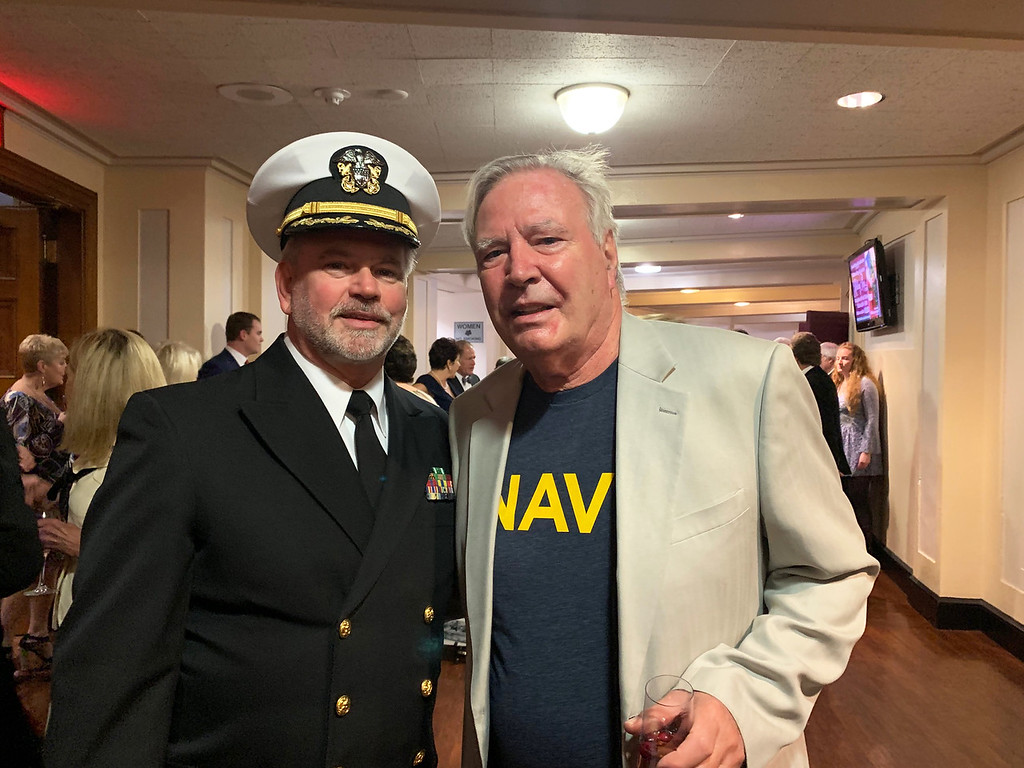 . From left, Cmdr. (Ret.) Jeff Lance of Stow and Jerry Dugal of Andover