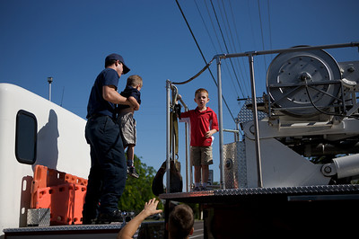 Rylan and Max Day at the Firehouse - Special thanks to Phoenix Firefighter Bill Goethe
