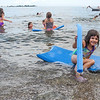 Kids having fun without crashing into rocks