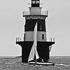 BW of lighthouse shot.