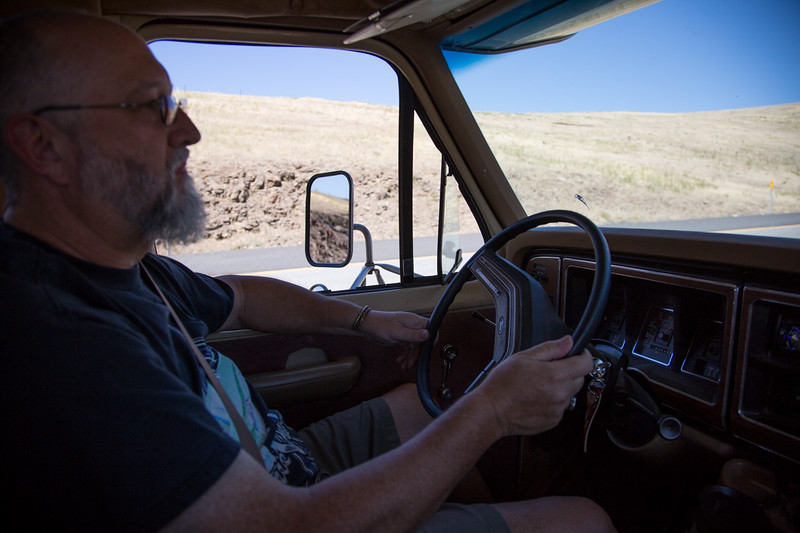 On the road to Joseph, Oregon<br /> The Starship Garcia<br /> Capt. Walker at the helm