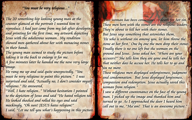 """You must be very religious...""<br /> PLEASE CLICK ON IMAGE FOR XL VIEWING"