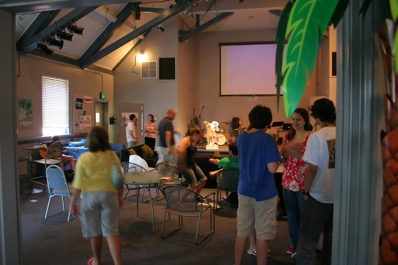 student ministries in the loft on a sunday morning