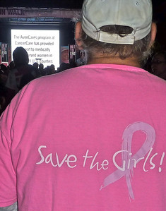 Roger and his Save the Girls T-shirts.  The most photographed non-participants all weekend.