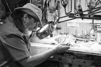 Master Shipwright and Model Builder JIMMY FROST photographed in his studio in North Myrtle Beach, SC.