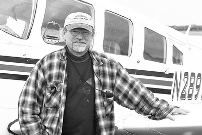 Bush pilot PAT SHRYOCK photographed on the tarmac at his fixed base operation in King Salmon, Alaska.