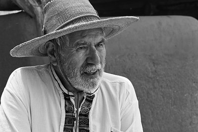 Historian and Educator RAMON PINO photographed during a reenactment workshop near Santa Fe, NM.