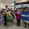 HOspital Staff welcoming those who were returning as well as first-timers to Sucre.