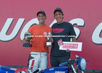 Sportsman Motorcycle Bracket Shootout Winner Circle
