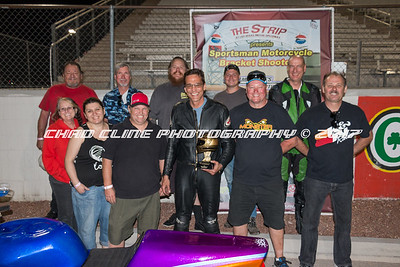Sportsman Motorcycle Bracket Shootout Winner Circle and Awards