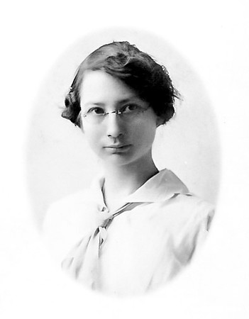 Ora Blanche Burright in 1917, on the family claim near Mulhall, Logan County, Oklahoma