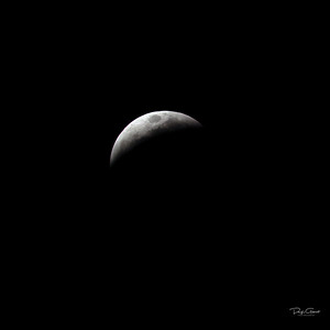 """Partial Lunar Eclipse at 75%"""