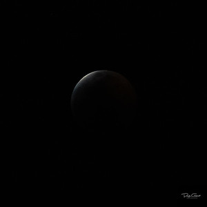 """Partial Lunar Eclipse at 95%"""