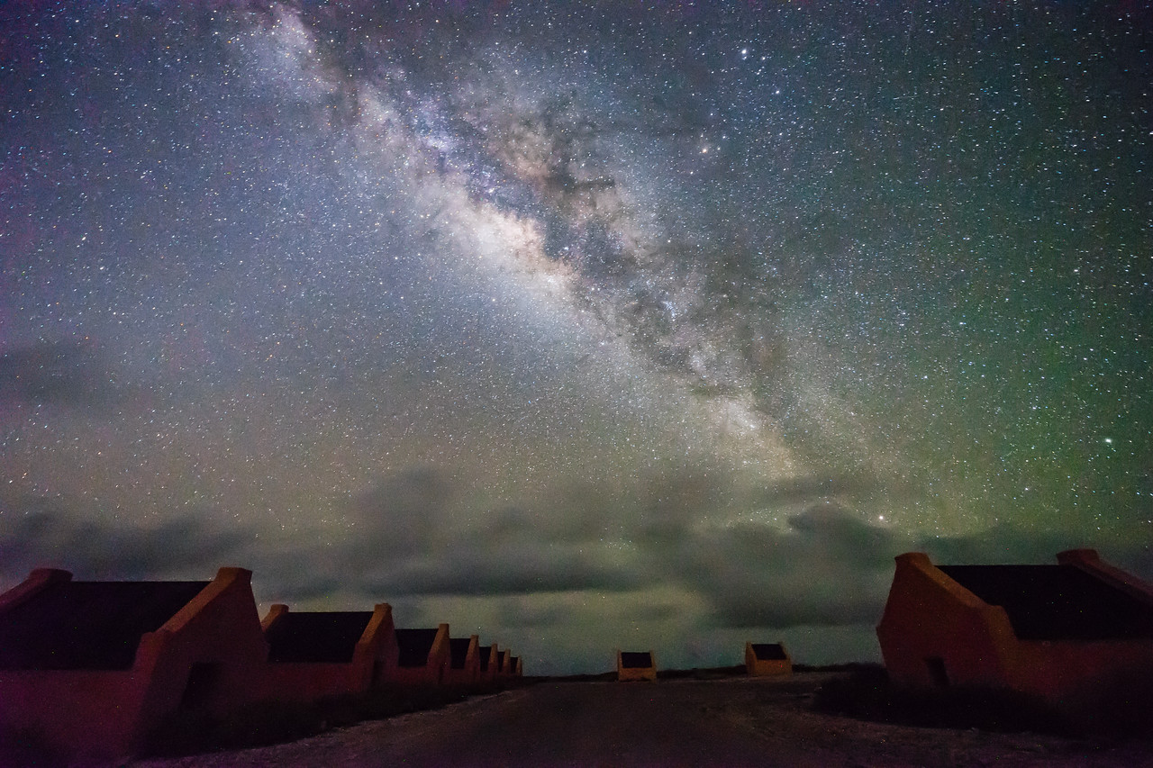 Milky Way over Red Slave Huts
