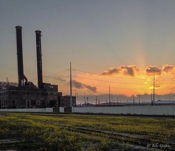 Towering sunset