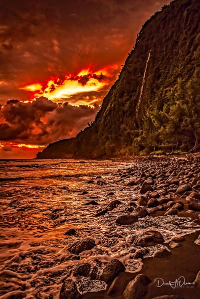 Sunrise on Waipea Beach
