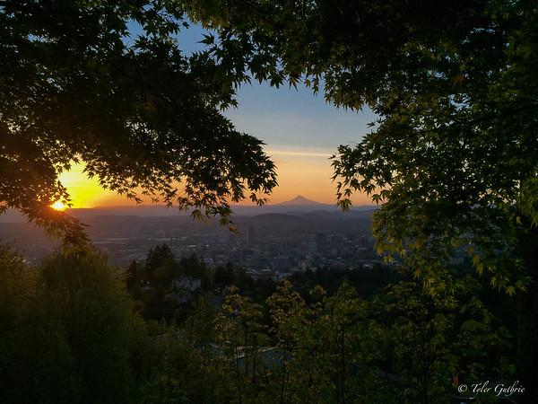 Sunrise over the Hood of Portland