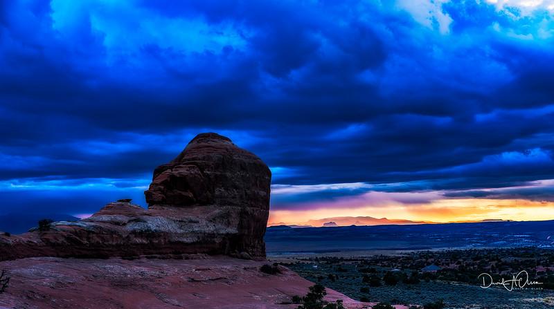 A Blue Sunset