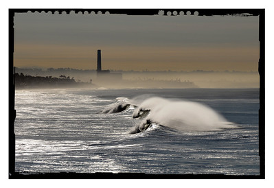 North County's big winter Swell. Carlsbad/Oceanside.