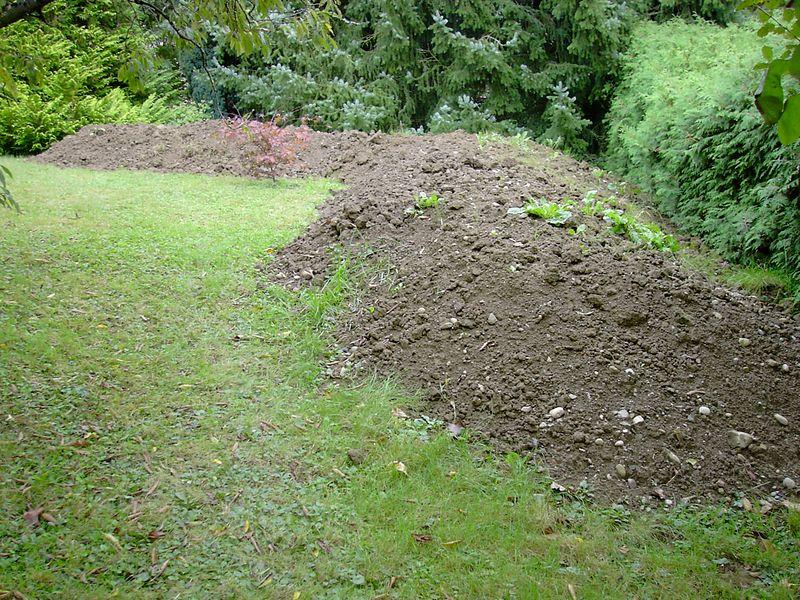 status on 16.09.2005 Pile 1 of excavated soil