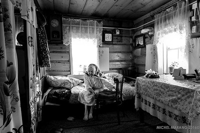 95 year old Tatar woman, blinded after hard labour under Stalin.
