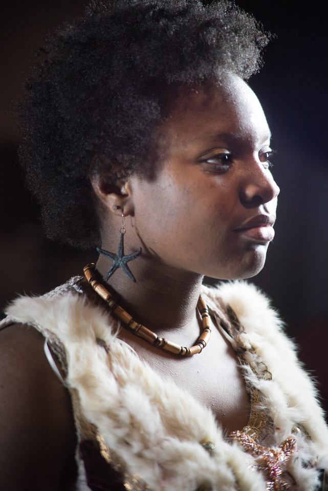 Savannah Jackson as Miranda in The Tempest Directed by Miriam Bennett. Music by Aman Almeida and Andy Karkosiak. Costume Design by Aramay Moss  photo by Miriam Bennett