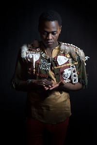 Kudzania Munodawafa as Caliban in The Tempest Directed by Miriam Bennett. Music by Aman Almeida and Andy Karkosiak