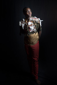 Kudzania Munodawafa as Caliban. Costume Design by Aramay Moss