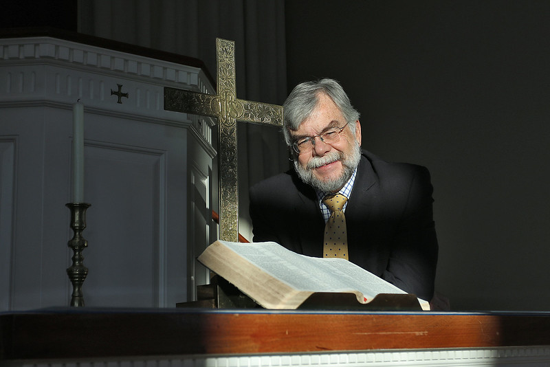 The Tewksbury Congregational Church will be having a Blue Christmas Worship Service next week, reaching out to those who feel hopeless and helpless during the holiday season. Rev. Norm Bendroth was on hand to talk about it on Thursday afternoon. SUN/JOHN LOVE