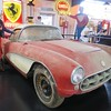 1957 Corvette barn find, after 40 years of storage.<br /> Dream Car museum Evansville, IN