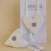 Linen Sixpence Heart: