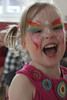 After the obligatory face painting...