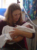 "Amelia getting a visit from Helen.<br /> As Helen saw them first when they were only 4 days old, she's the other person that says ""aren't they big"" instead of ""aren't they small"" !"