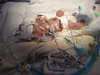 2 days old, Amelia in her incubator at Chelsea & Westminster.  There's more pipes & tubes & wires than baby!