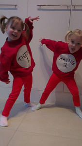Costumes for school on Book Day 2012.  Obvious choice really!