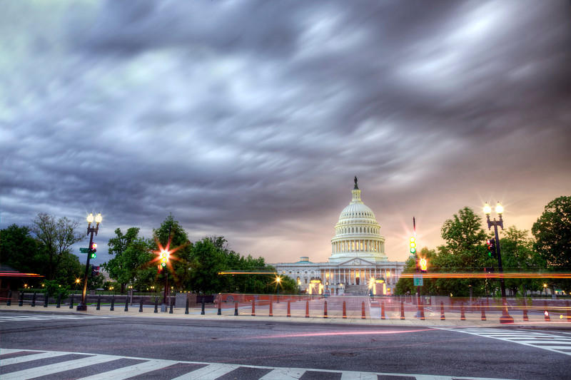 US Capitol during a Storm