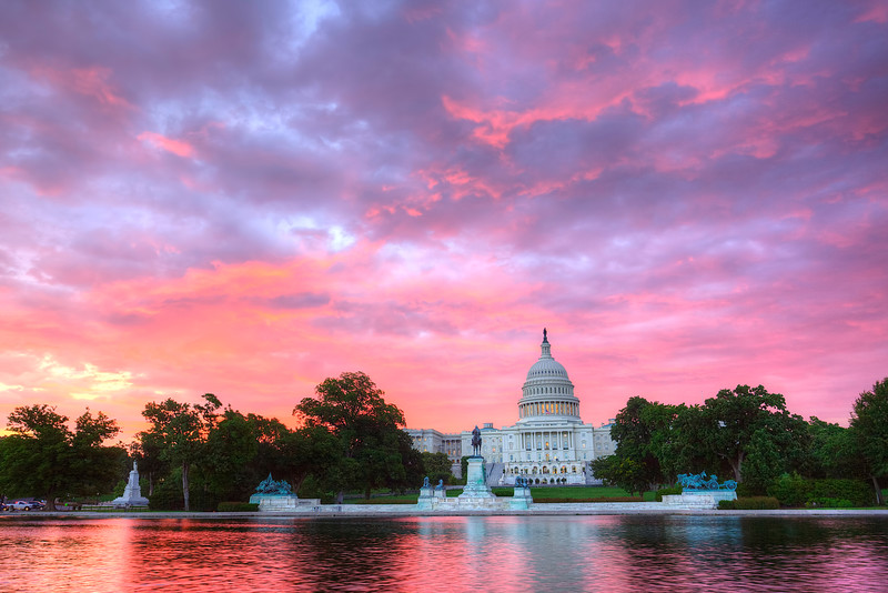 Pink Sunrise at the Capitol