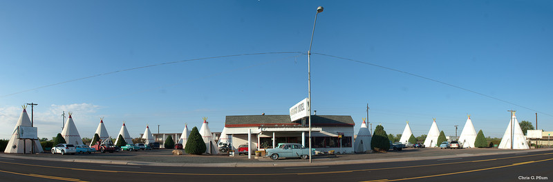 Hollbrok, AZ - This TP motel on Route 66 is on the National Register of Historic Places.