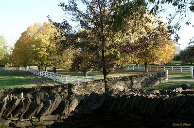 Shakerton, Kentucky - Constructed without mortor, these stone walls date back to the early 1800's.