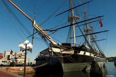 Baltimore, MD - The USS Constellation sailed to the African coast in 1859 where it intercepted vessels engaged in illegal slave trade.  During this mission, it captured three ships and freed 705 Africans that were destined for slavery in the Americas. During the Civil War, the Constellation and its crew of 719 protected Union trade from Confederate raiders.