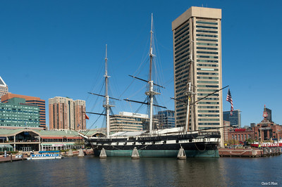 Baltimore, MD - Inner Harbor and the USS Constellation