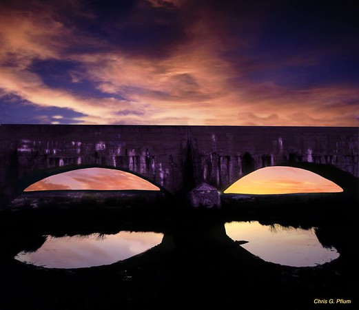 Aqueduct circa 1890, Carlsbad, New Mexico