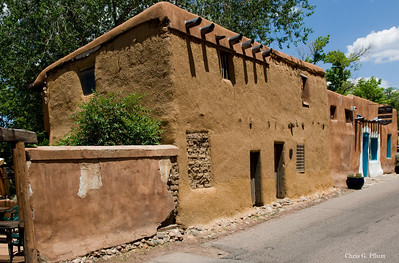 Built in 1720 in Sante Fe, New Mexico, the Gregorio Crespin House is purported to be the oldest home in the U.S.A.
